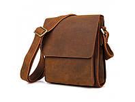 Мужская сумка (мессенджер) из натуральной кожи, коричневого цвета. ТОП КАЧЕСТВО!!!, фото 1