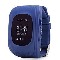 Детские умные часы Q50 с GPS трекером и функцией телефона синие Smart Watch