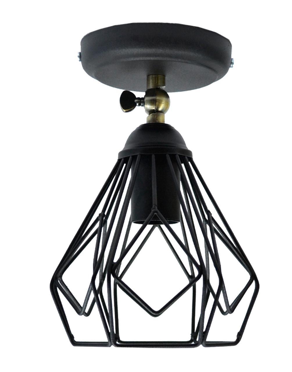 Светильник настенный бра NL 538-1 B 100lamp Е-27 Лофт черный