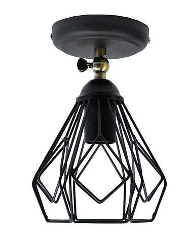 Светильник настенный бра NL 538-1 B 100lamp Е-27 Лофт черный, фото 2