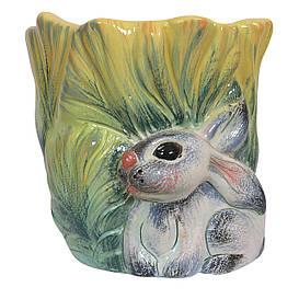 Цветочный горшок Заяц в капусте