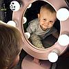 Подарок девушке на новый год-Зеркало для макияжа розовое, фото 9