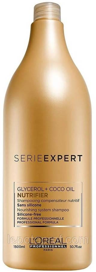 Шампунь для сухих волос L'oreal professionnel SÉRIE EXPERT NUTRIFIER SHAMPOO, 1500 мл.