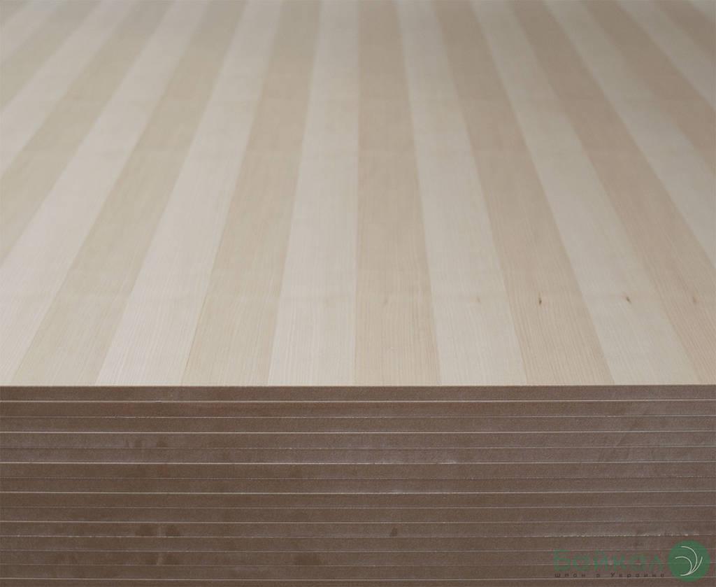 МДФ шпонированная Белым Ясенем 9 мм А/В 2,80х2,07 м