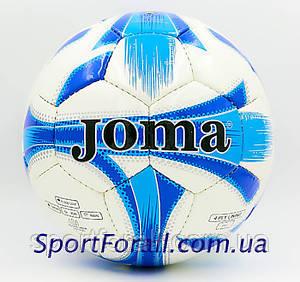 Мяч футбольный №5 PU ламин. JOMA JOM-4-7 (5 сл., сшит вручную, белый-синий-голубой)