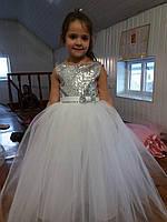 Платье детское нарядное с пайетками