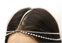 Красивое украшение на голову со стразами (Серебро)