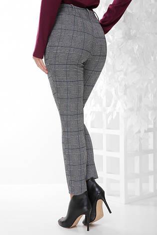 99ba870b10fa Женские классические серые брюки в клетку зауженные к низу