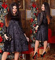 Платье женское большие размеры велюр  СЕР1201