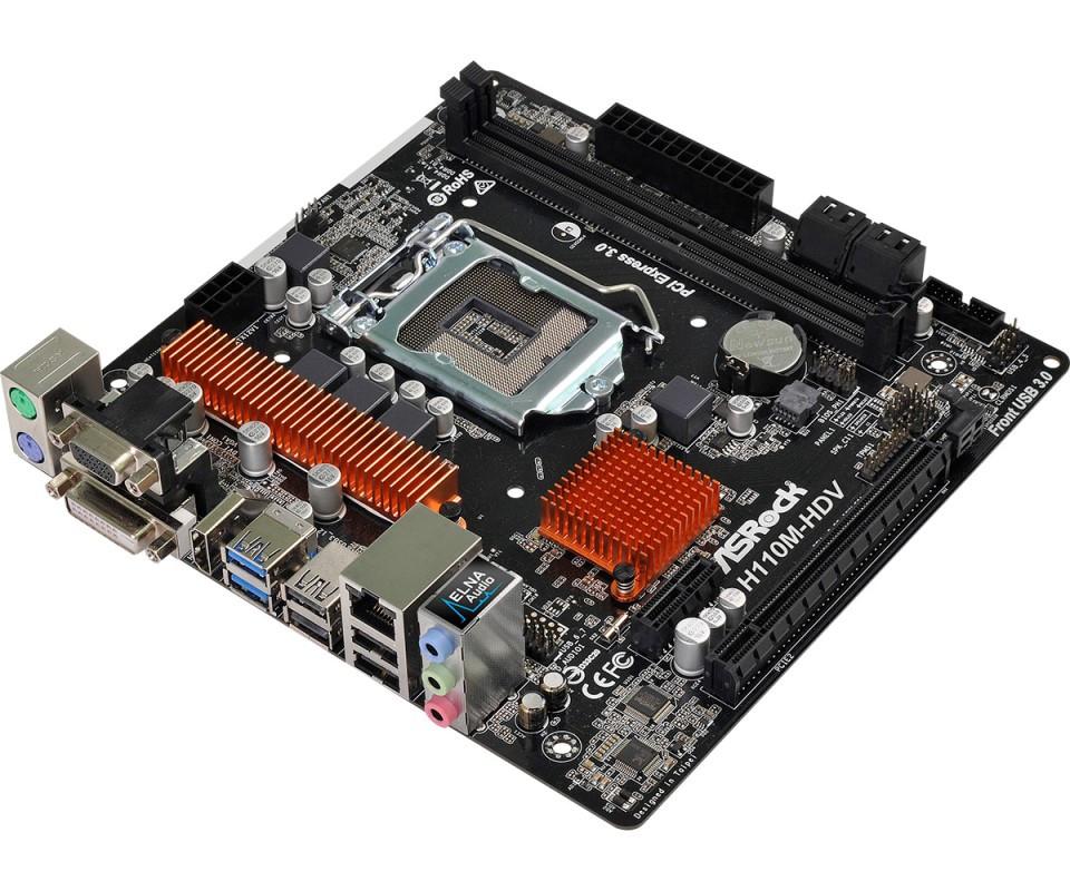 Материнская плата ASRock H110M-HDV R3.0 (s1151/H110/DDR4)