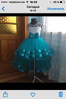 Платье для девочки с хвостом