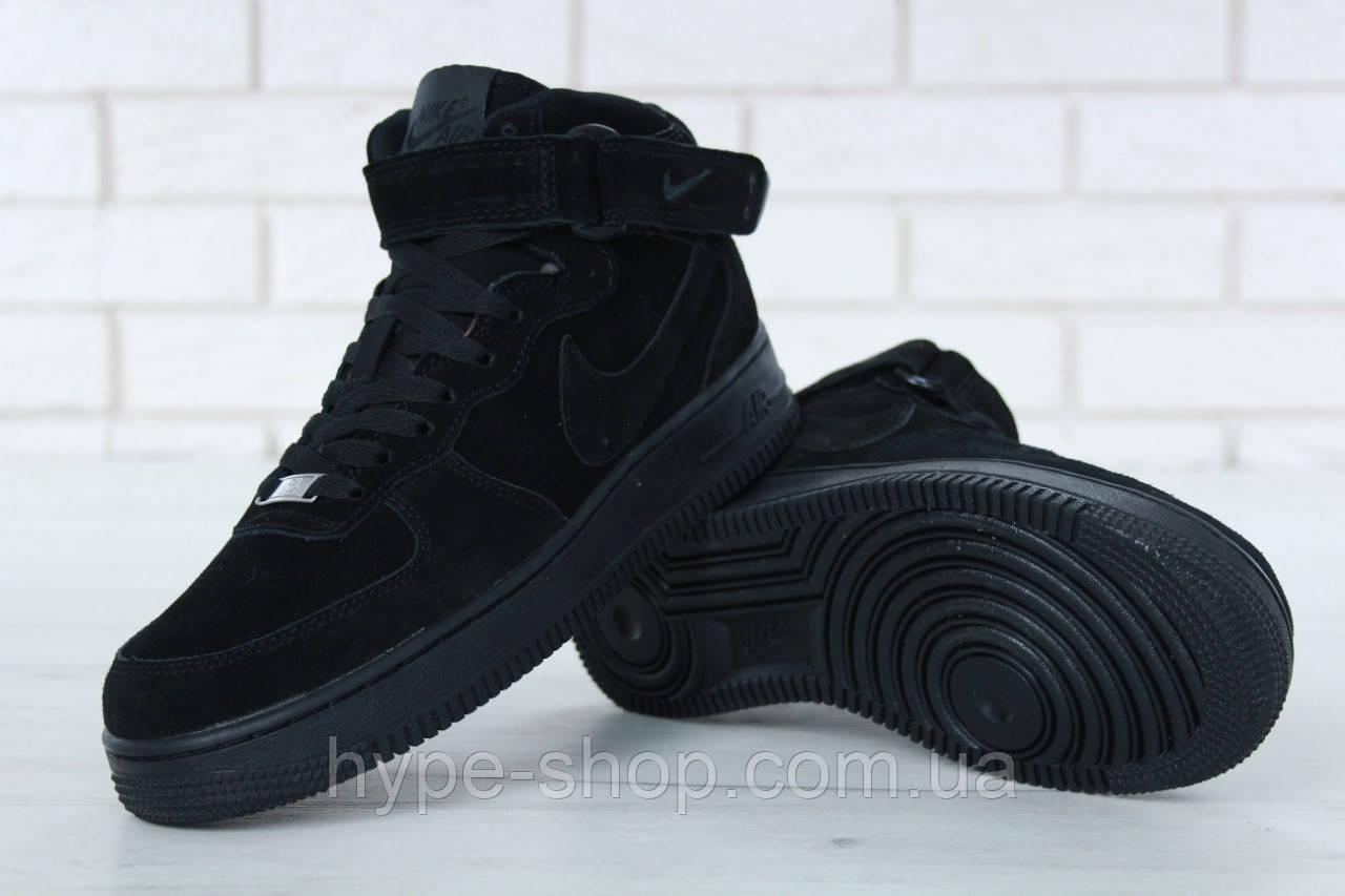 Мужские зимние кроссовки в стиле Nike Air Force   На Меху