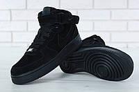 Мужские зимние кроссовки в стиле Nike Air Force   На Меху, фото 1