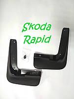 ОРИГИНАЛЬНЫЕ ЧЕХИЯ передние брызговики, к-т (2шт.) для Шкода Рапид  и Спейсбек  и  5JA071111 SkodaMag
