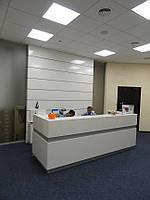 Стойка ресепшн для офиса, отеля (мебель для персонала под заказ в Киеве) (R-20)