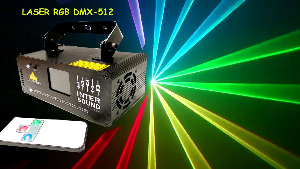 Диско лазер RGB с пультом ДУ. Лазерный проектор DM-RGB 400