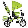 Трехколесный велосипед с поворотным сиденьем, M 3199-4HA зеленый, фото 3