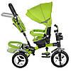 Трехколесный велосипед с поворотным сиденьем, M 3199-4HA зеленый, фото 4