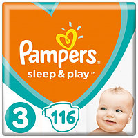 Подгузники детские Pampers Sleep&Play Midi 3 (4-9 кг) Mega Pack 116 шт, фото 1