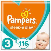 Подгузники Pampers Sleep&Play Midi 3 (4-9 кг) Mega Pack 116 шт