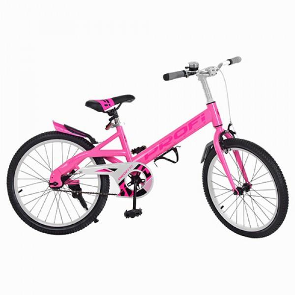Детский двухколесный велосипед Original Profi 20 дюймов, W20115-3 розовый