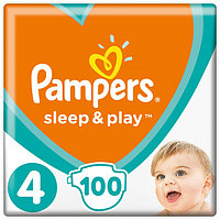 Підгузники дитячі Pampers Sleep&Play Maxi 4 (7-14 кг) Mega Pack 100 шт