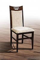 Деревянный обеденный стул из массива дерева, с мягкой сидушкой, спинкой - Юля(ОРЕХ)