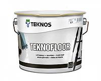Эмаль уретан-алкидная TEKNOS TEKNOFLOOR для пола (белый) 2.7 л