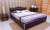 Ліжко Прованс з патіною і фрезеруванням /м'яка спинка/ ромби ПМ, фото 1