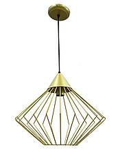 Светильник потолочный подвесной NL 0543G Electropark Е-27 Лофт золотой