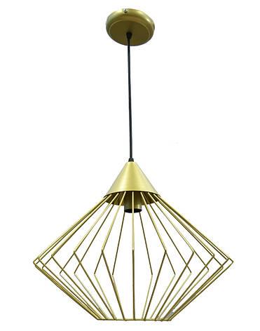Светильник потолочный подвесной NL 0543G Electropark Е-27 Лофт золотой, фото 2