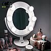 Подарок девушке на 14 февраля -Зеркало для макияжа белое, фото 4