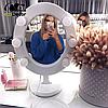 Подарок девушке на 14 февраля -Зеркало для макияжа белое, фото 6