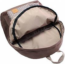 Рюкзак Bagland Молодежный W/R 17 л. коричневый/горох (00533662), фото 3