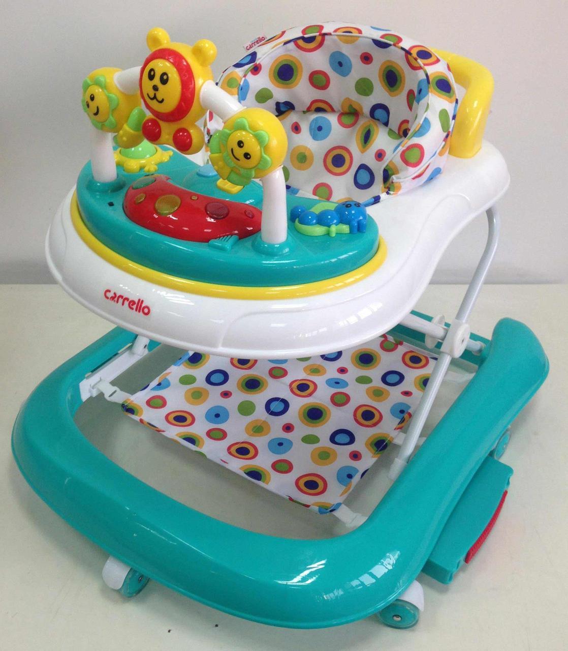 Детские ходунки 3в1 (ходунки/качалка/каталка) Carrello Libero CRL-9602 Turquoise