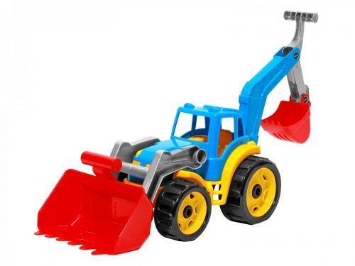 Трактор с двумя ковшами ТехноК (красно-голубой)