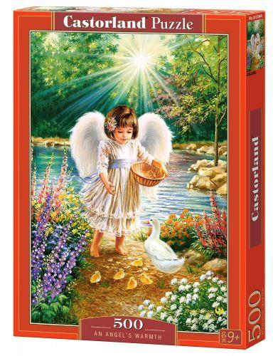 "Пазлы ""Ангел, кормящий утят"", 500 элементов (ангелок, детки, дети, ребенок)"