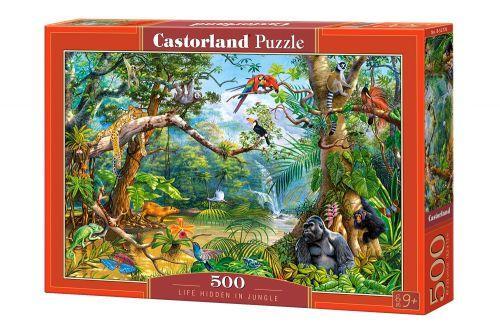 """Пазлы """"Жизнь в джунглях"""", 500 элементов (анималистика, джунгли, природа, дикие животные, птицы)"""