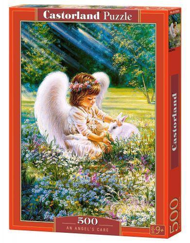 """Пазлы """"Ангел и кролик"""", 500 элементов (дети, ребенок, девочка, ангел, ангелок, ангелочек)"""
