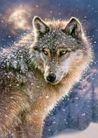 """Пазлы """"Волк"""", 500 элементов (волк, зима, снег, звери, природа, дикие животные)"""