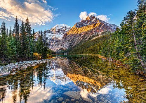 """Пазлы """"Утренний солнечный свет на скалистых горах"""", 500 элементов"""