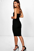 Новое облегающее миди платье на бретельках Boohoo, фото 2