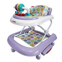 Детские ходунки 3в1 (ходунки/качалка/каталка) Carrello Torino CRL-9603/2 Purple