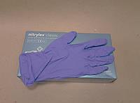NITRYLEX CLASIK рукавички нітрилові оглядові, нестерильні, неприпудрені, фіолетові
