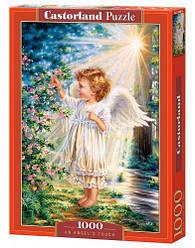 """Пазлы """"Ангел в саду"""", 1000 эл (пазлы ангел,  ангелок, ангелочек,  дети, ребенок)"""