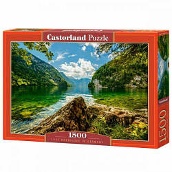 "Пазлы ""Озеро Конигзее в Германии, Lake Koenigsee in Germany"", 1500 эл"