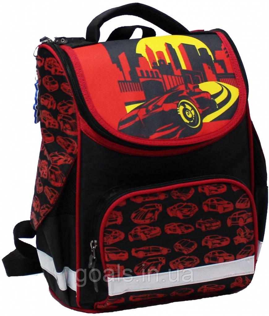 Рюкзак школьный каркасный Bagland Успех 12 л. Черный (красная машина 22) (00551702)