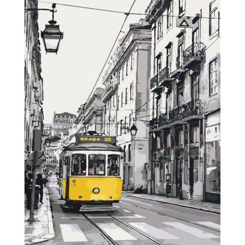 """Картина по номерам """"Жёлтый трамвайчик"""""""