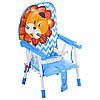 Cтульчик-трансформер 2в1 (для кормления+стульчик) GL 217С-212 Лев, голубой, фото 2