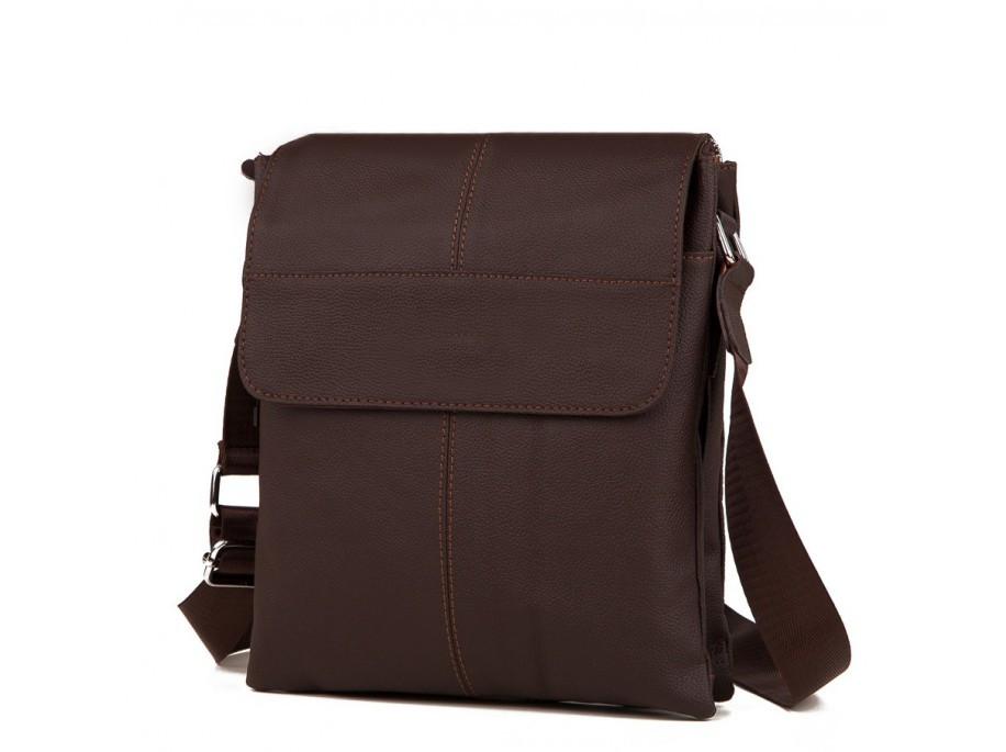 Мужская сумка (мессенджер) из натуральной кожи, коричневого цвета. ТОП КАЧЕСТВО!!!